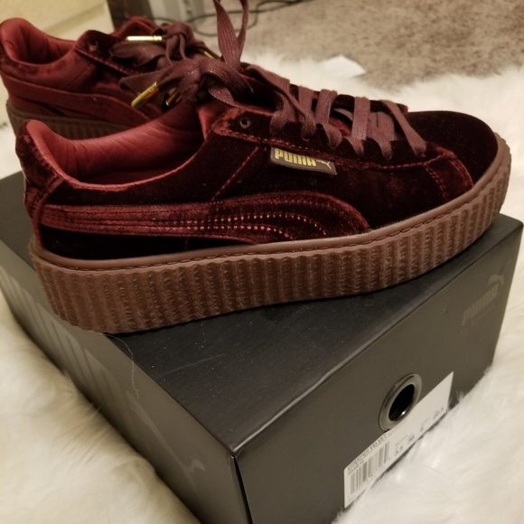 new product 42886 52117 RARE red velvet Fenty puma creepers